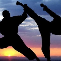 Practicing martial arts in a place when the sun goes down