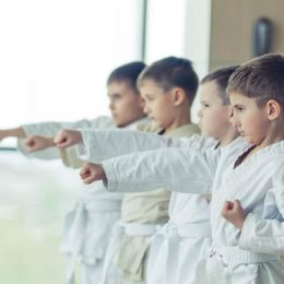 Image showing group of kids in their training session.