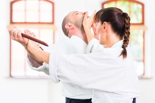 A Woman Beat A Man In Her Martial Arts Training Session.